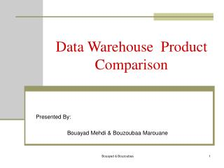 Data Warehouse  Product Comparison
