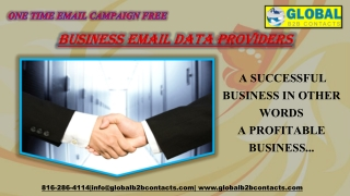 Business email data providers