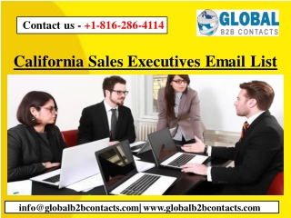 California Sales Executives Email List