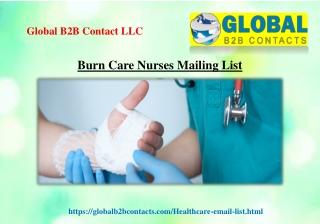 Burn Care Nurses Mailing List