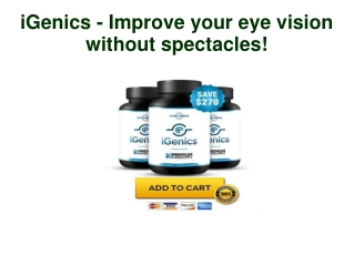 iGenics Improve your eye vision without spectacles!