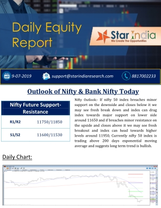 Nifty Intraday Tips- Outlook of Nifty & Bank Nifty