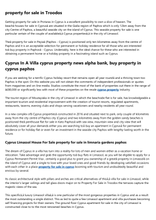 cyprus property troodos in Nicosia
