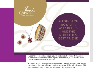 A Touch of Royalty: Why Rubies Are The Nobilities' Best Friend