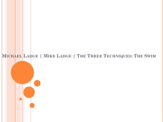 Mike Ladge | Michael Ladge