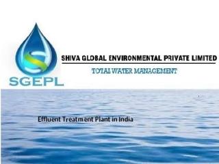 Effluent treatment plant in india