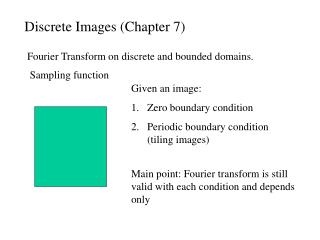 Discrete Images (Chapter 7)