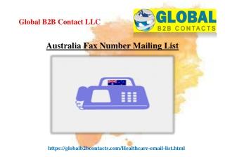 Australia Fax Number Mailing List