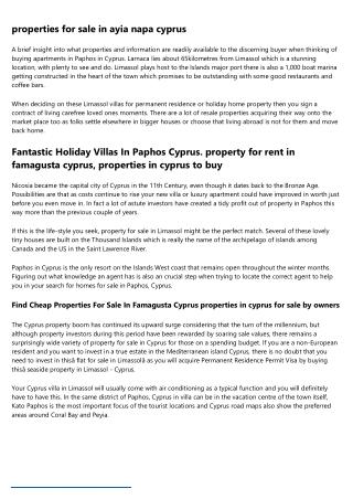 property for sale nicosia cyprus - Living Cyprus Dream