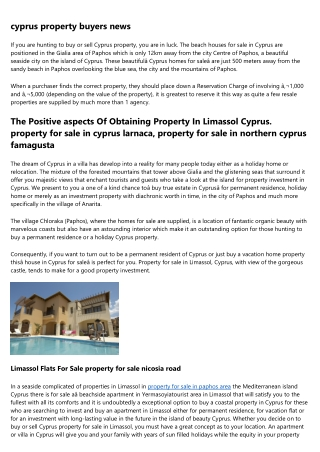 property for sale in cyprus by owners - Beautiful Properties