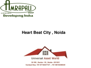 Heart Beat City Noida Sec.107 @40 lacs call 9810236040
