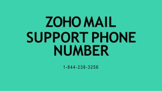 Zoho Mail Support【1-844-238-3256】Phone Number