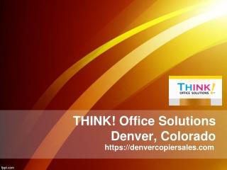 Printing Services Denver Co - Denvercopiersales.com