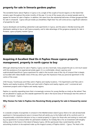 property in limassol cyprus - Prestigious Properties