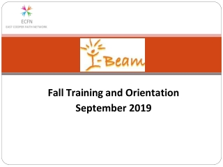Fall Training and Orientation September 2019