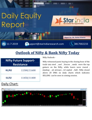 Stock Market Advice- Outlook of Nifty & Bank Nifty