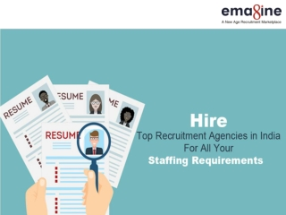 Top Recruitment Agencies In India- Emagine People Solutions