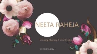 Wedding planner and coordinator