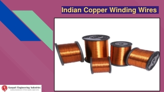 Indian Copper Winding Wires