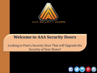 Looking to Find a Security Door That will upgrade the Security of Your Home