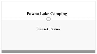 Sunset Pawna - Pawna Lake Camping - Camping Near Pune