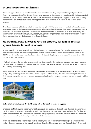 12 Stats About property for sale in cyprus paphos area to Make You Look Smart Around the Water Cooler
