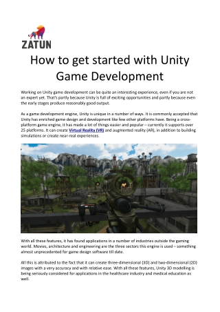 How to Get Started with Unity Game Development