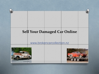 Sell Your Damaged Car Online