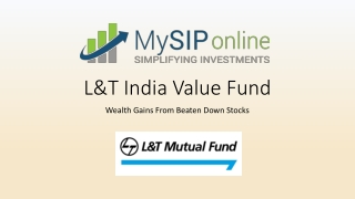 Invest in L&T India Value Fund Online