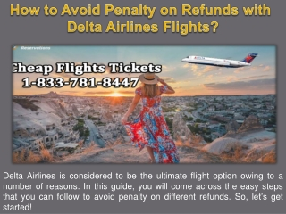 How to Avoid Penalty on Refunds with Delta Airlines Flights?