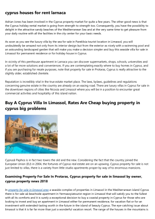 property in limassol cyprus - House, Villa, Apartment