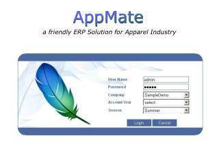 a friendly ERP Solution for Apparel Industry
