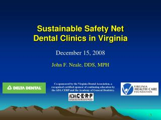Sustainable Safety Net Dental Clinics in Virginia