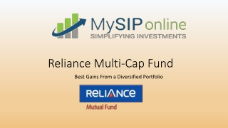 Overview on Reliance Multi Cap Fund