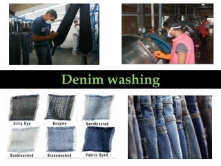 Denim washing