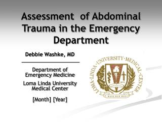 Assessment  of Abdominal Trauma in the Emergency Department