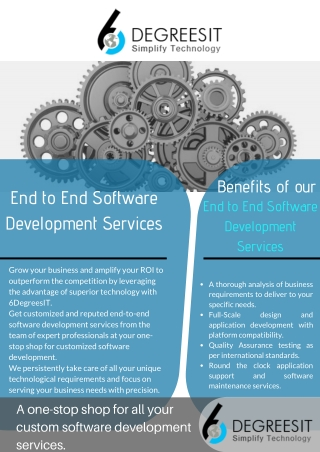 End to End Software Development Services at 6DegreesIT
