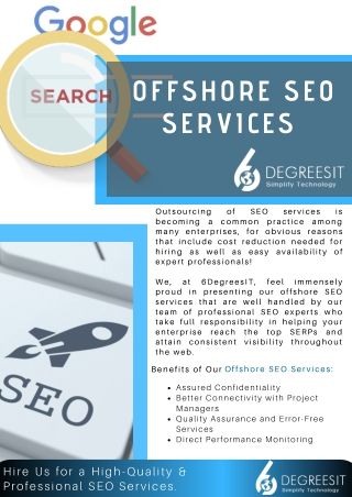Offshore SEO Services by Expert Professionals – 6DegreesIT