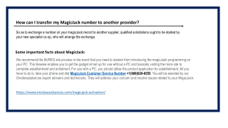 Magicjack Customer Support  1(888)626-6555