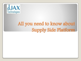 All Need To Known About Supply Side Platform(SSP)