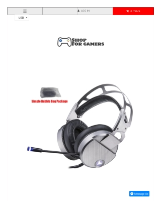 Askmeer V18 Wired USB Gaming Stereo Headset
