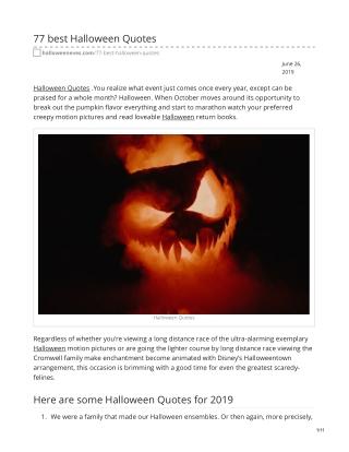 77 best Halloween Quotes