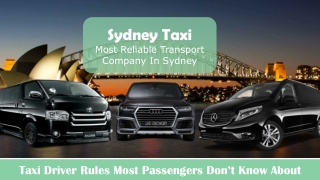Sydney People Mover Taxi