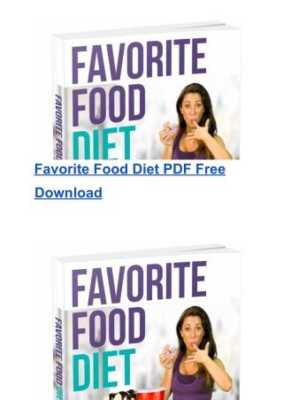The Favorite Food Diet Free Download | Chrissie Mitchell's PDF