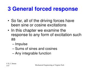 3 General forced response