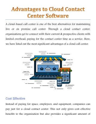 Advantages to Cloud Contact Center Software