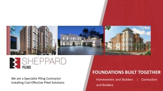 Piling Contractor in the UK, Foundation Building Experts - Sheppard Piling