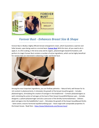 Forever Bust - Increase The Size Of Your Breasts