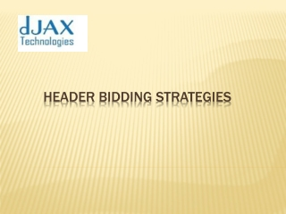 Header Bidding Strategies