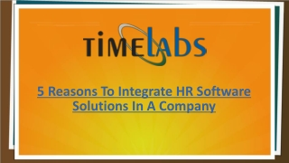 5 Reasons To Integrate HR Software Solutions In A Company
